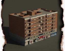 Building brick 3D model low-poly