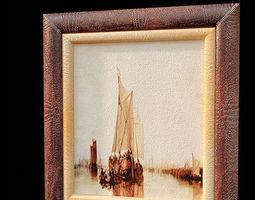 vintage painting 9 3d model