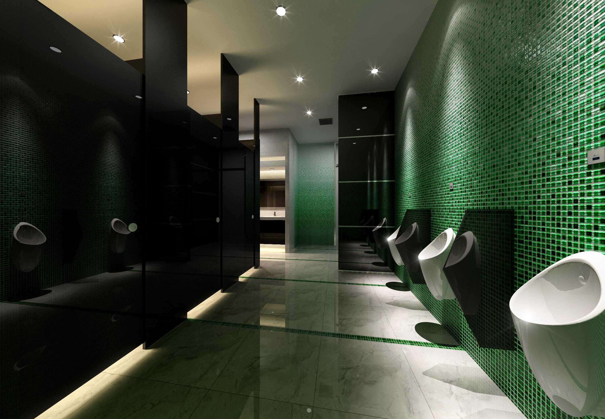 Public Bathroom 3d Model Max 1