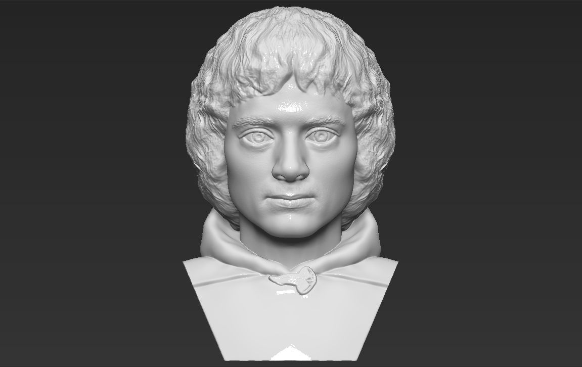 Frodo Baggins The Lord of the Rings bust 3D printing ready