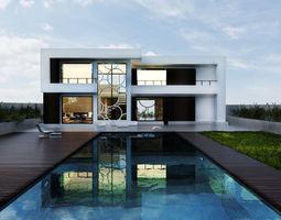 Modern House 3D model free