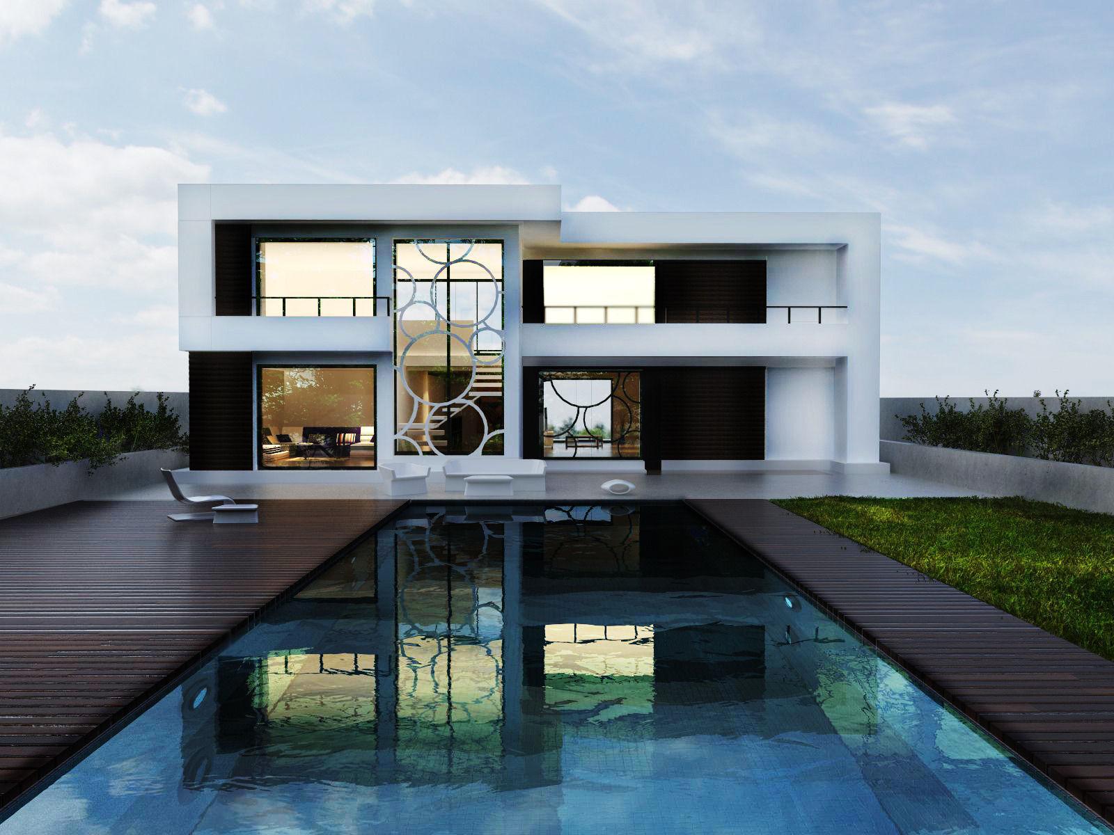 Modern house 3d model skp 1