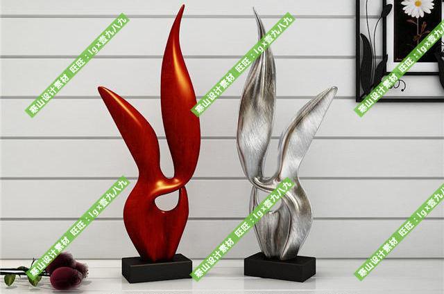 modern decoration 3d model max fbx stl 1