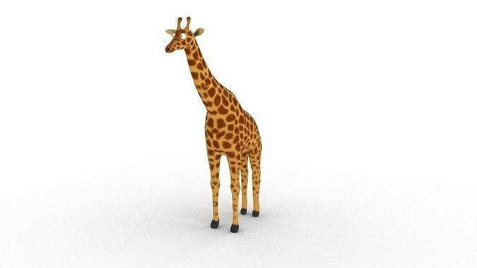 Cartoon Giraffe - Rigged