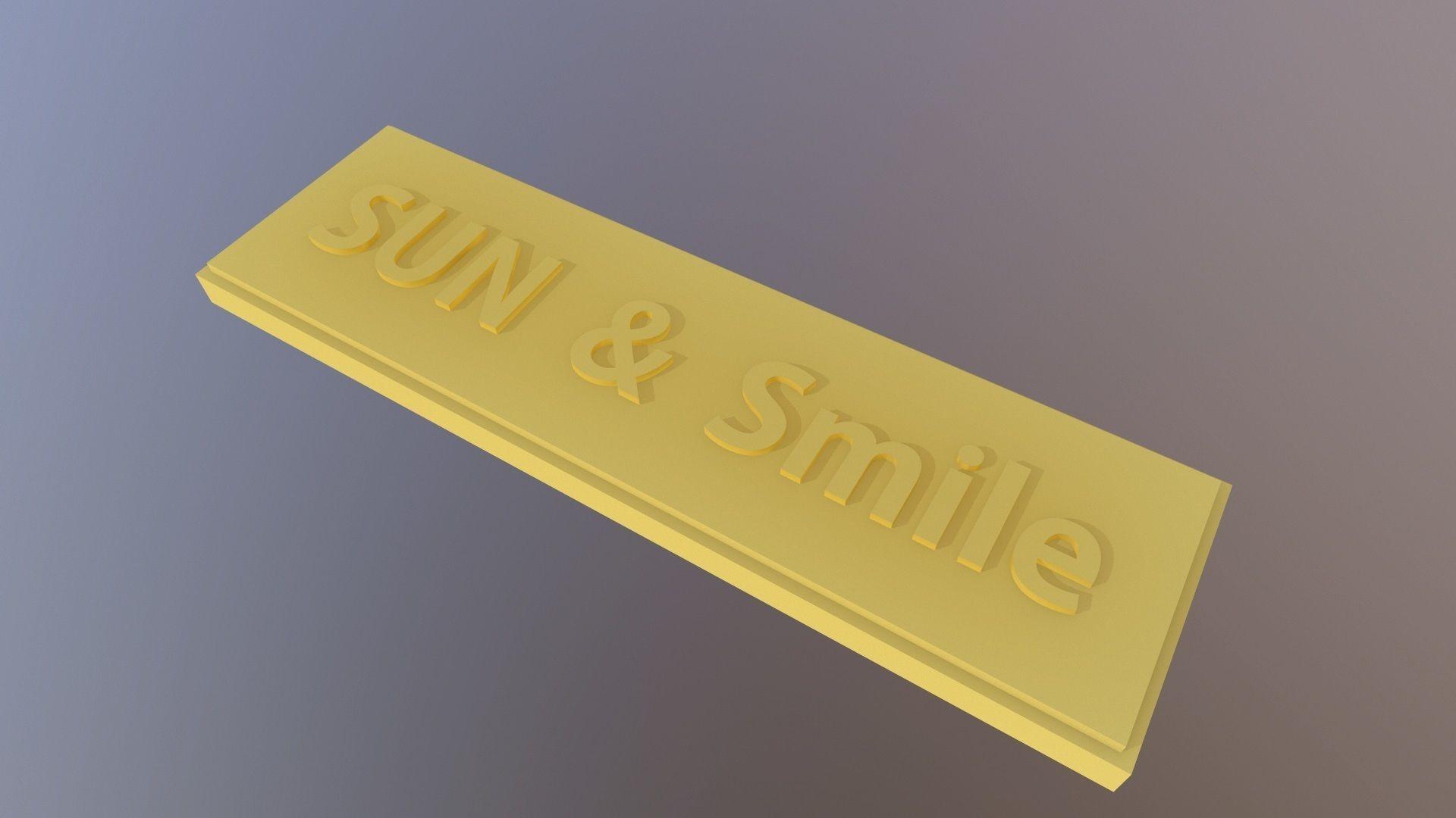SUN and smile label
