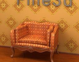 Armchair 3D model collection by fine3d