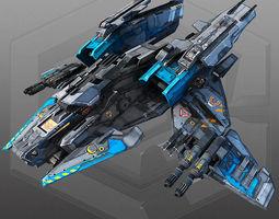 sci fi bomber x4 3d model realtime