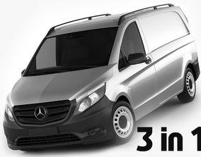 3D model Mercedes Vito Panel Van 2016