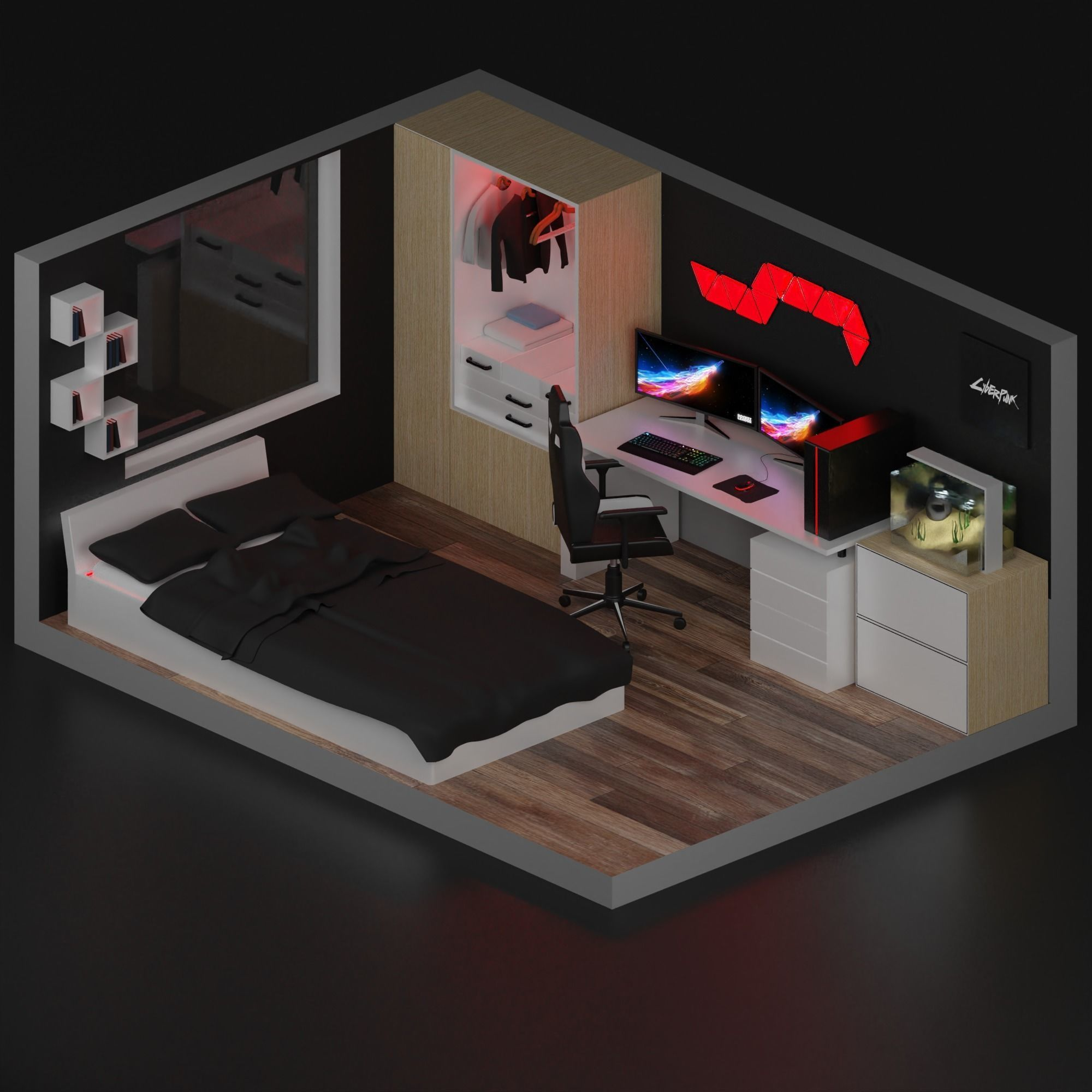 3d Model Realtime Gaming Room Cgtrader Designing a video game room in your house can be really hard, but these video game room decoration images will help you a lot in 2021. gaming room 3d model