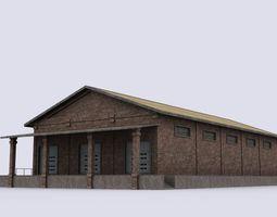 Production warehouse 3D model