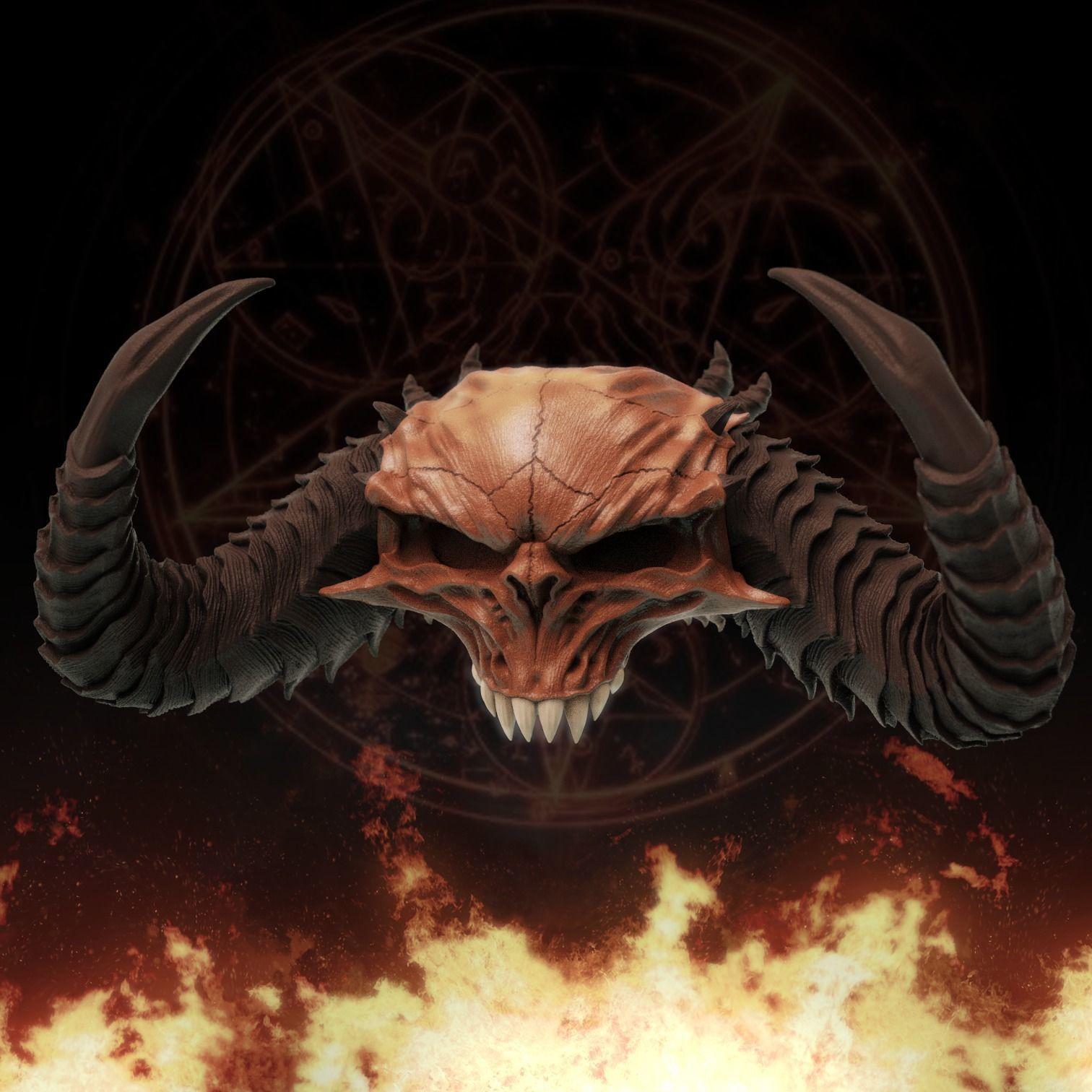 Diablo Skull - Diablo 2 and IV