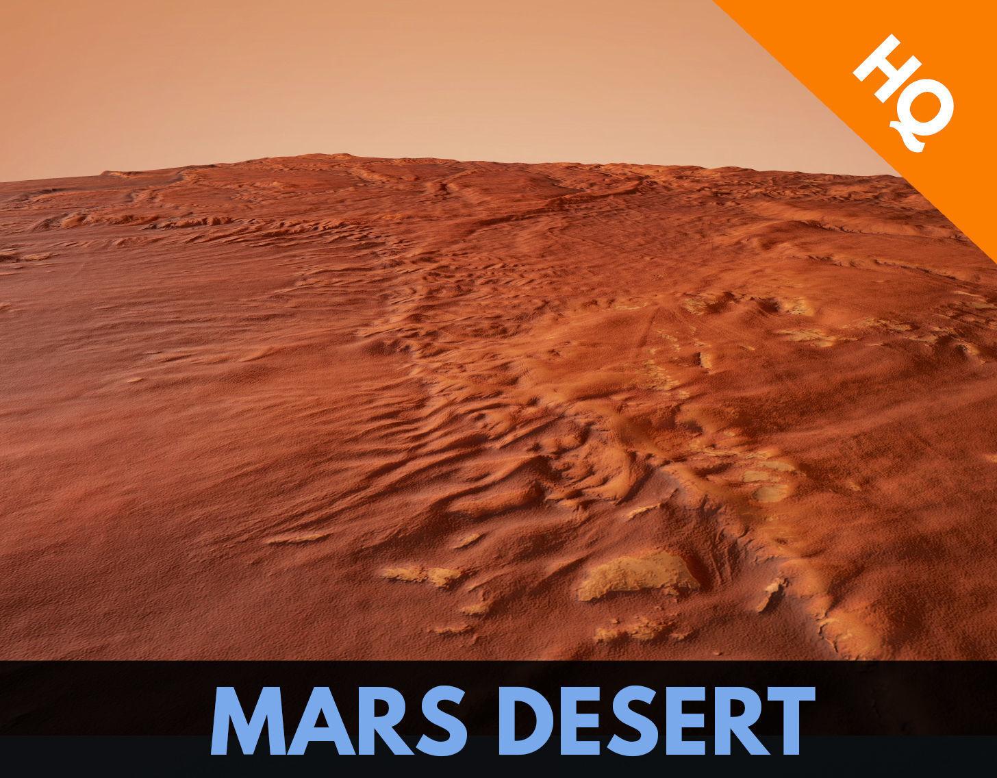 Mars Desert Terrain Landscape Mars Planet Dunes