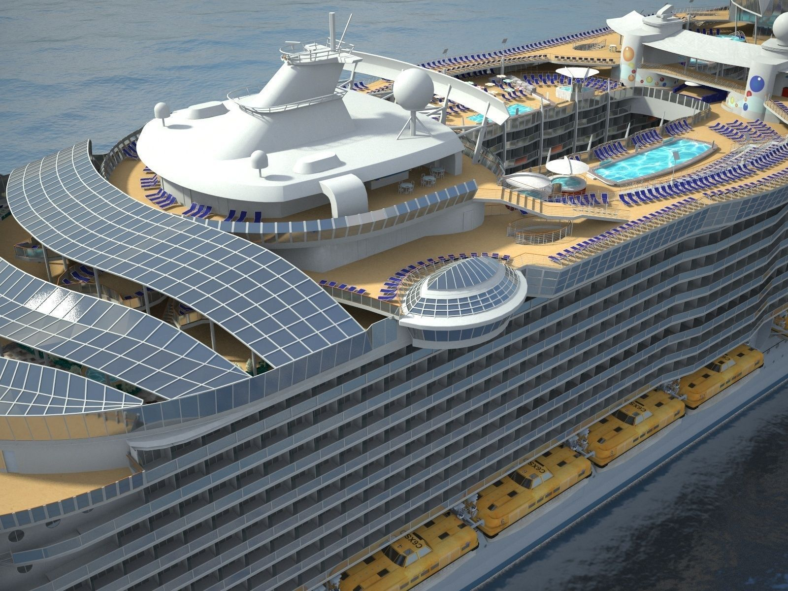 Oasis Of The Seas Cruise Ship 3D Model MAX OBJ 3DS FBX C4D
