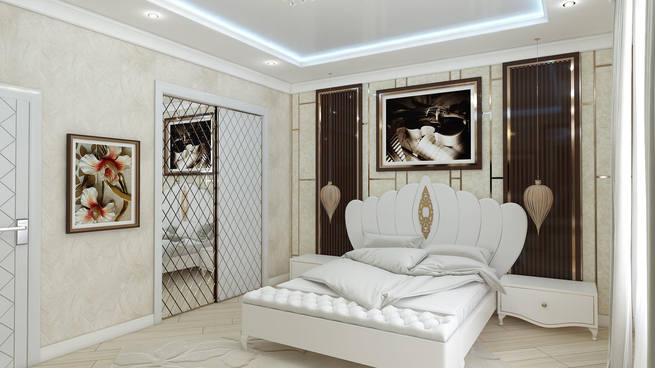 3D model Brown Bedroom and Wardrobe Interior Design on Model Bedroom Interior Design  id=70953