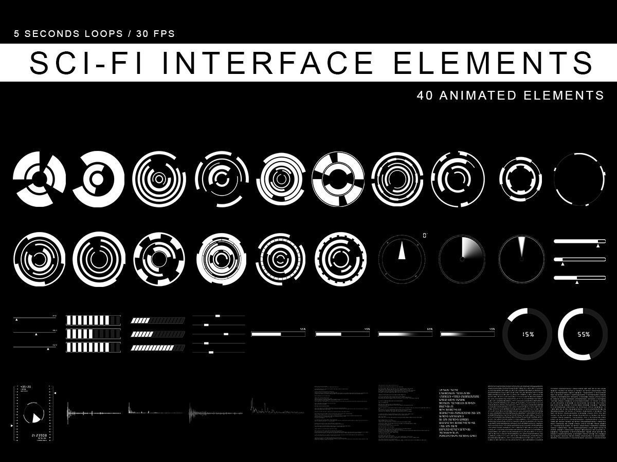 Sci Fi Interface Elements 3d Model Cgtrader Com