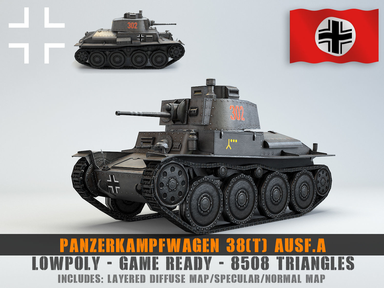 Low Poly Panzer 38t Light Tank