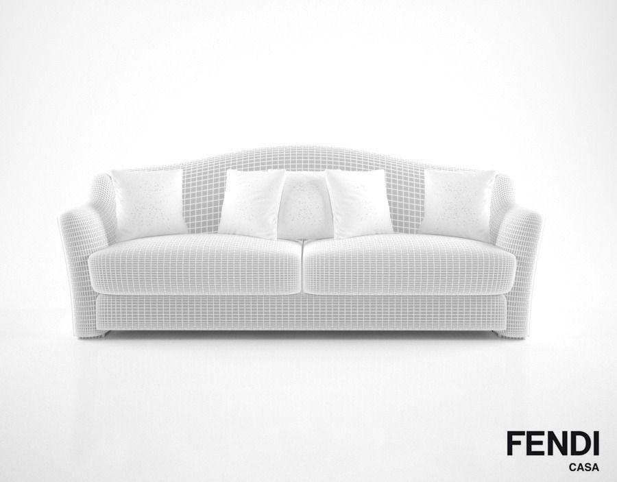 fendi casa faubourg sofa 3d model max obj fbx mtl - Fendi Sofa