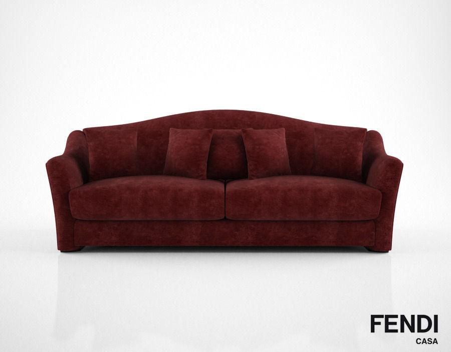 Superbe Fendi Casa Faubourg Sofa 3d Model Max Obj Mtl Fbx 1 ...