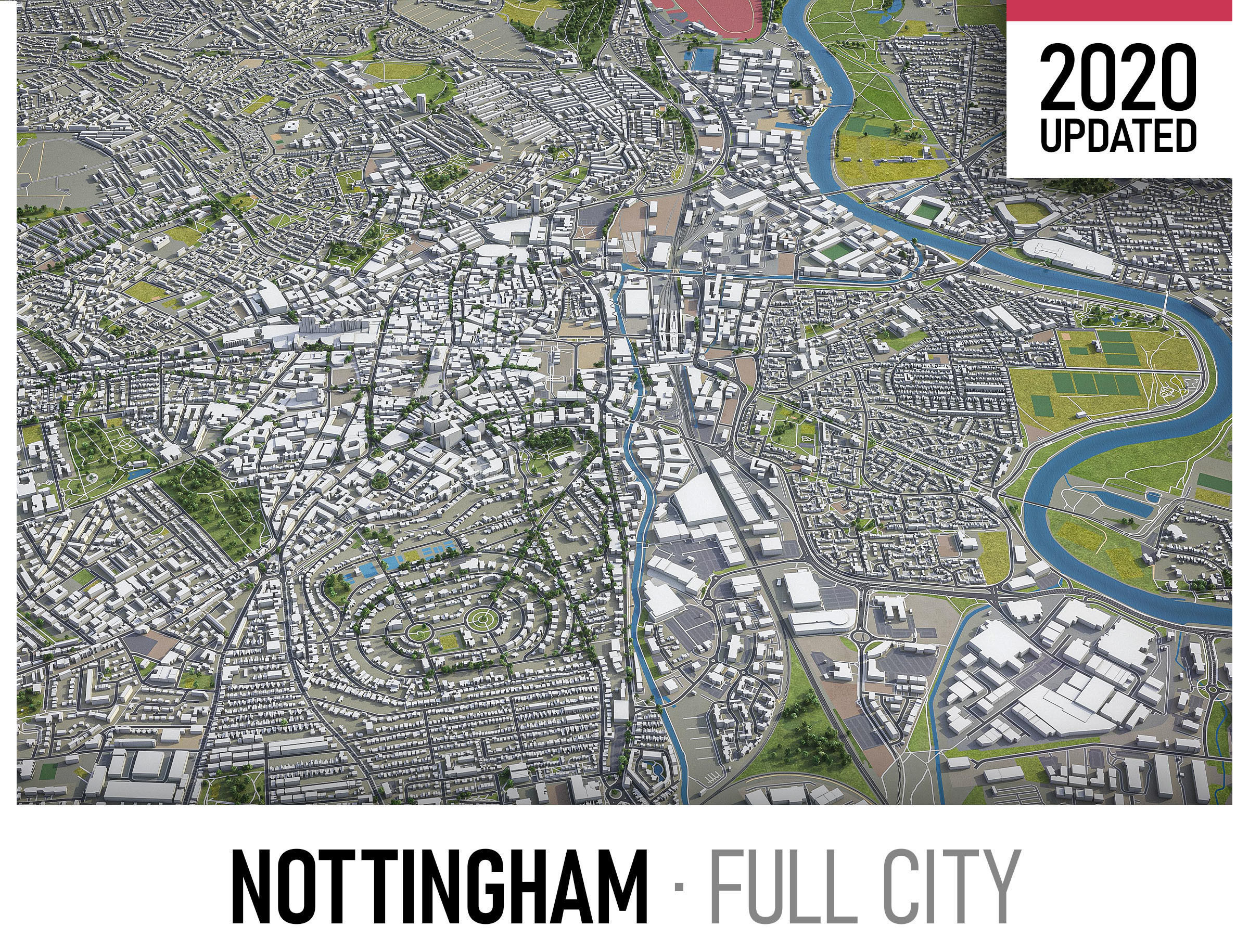 Nottingham - city and surroundings