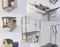 pilates equipment collection 3d