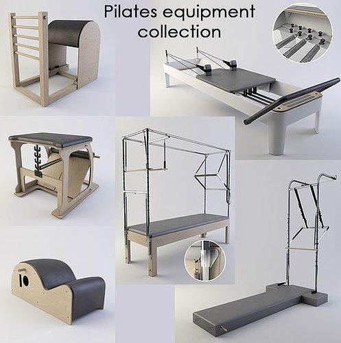 pilates equipment collection 3d model max obj fbx mtl 1