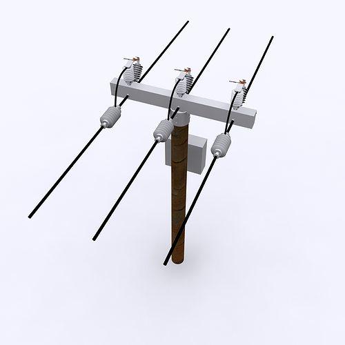 electrical post max 2010 3d model max obj mtl 3ds fbx c4d ma mb 1
