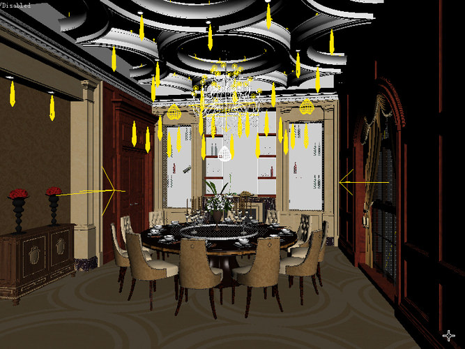 Dining room interior 3d model collection by fine3d 3d for Dining room 3d max model