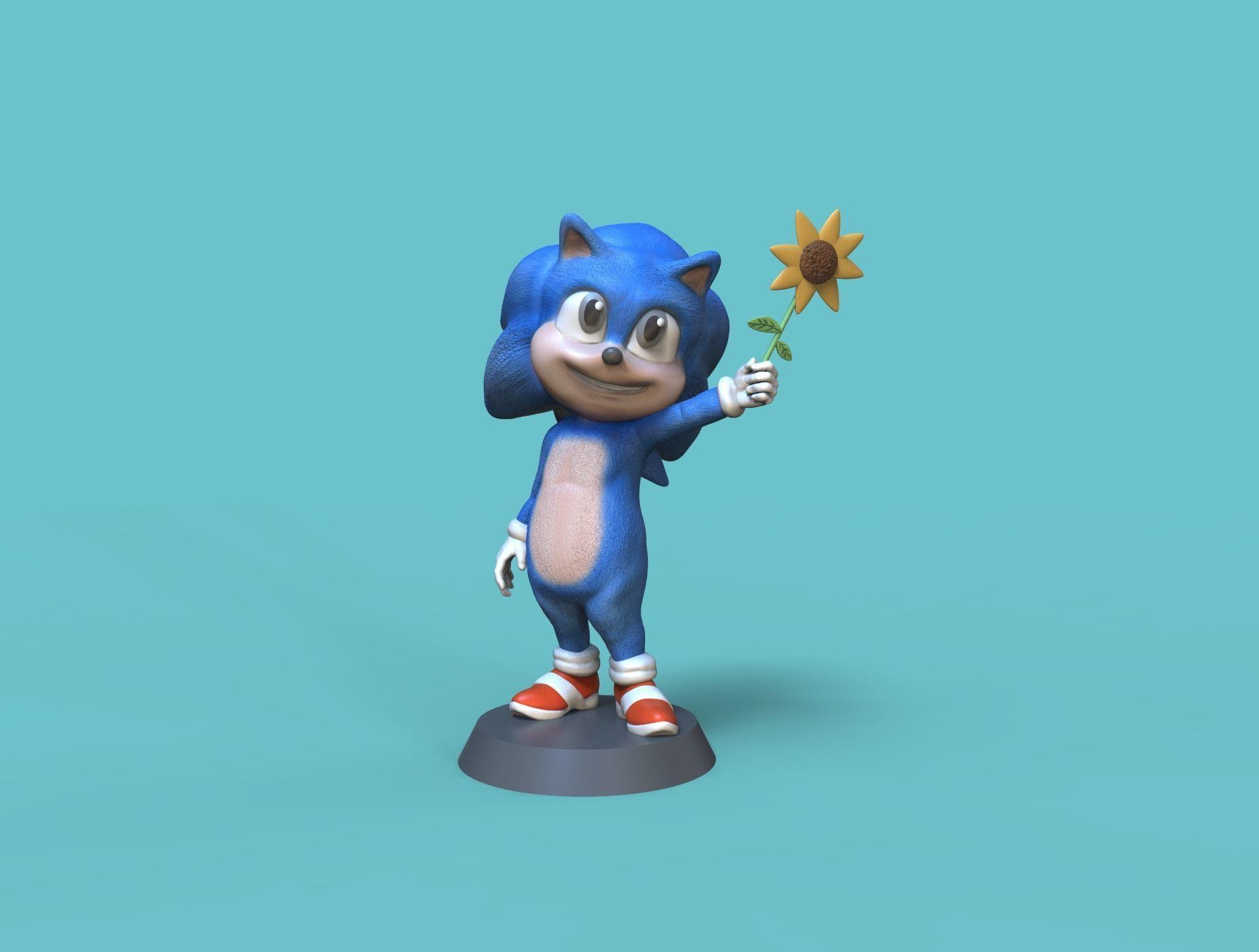 3d Print Model Baby Sonic Hedgehog Cgtrader