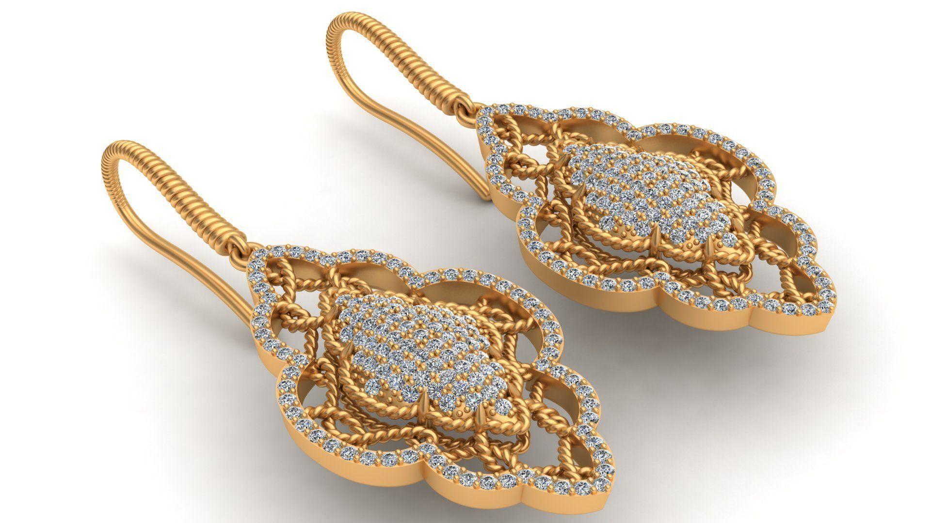 Roberto Coin Diamond Gold Earring