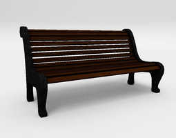 Street Bench 3D model VR / AR ready