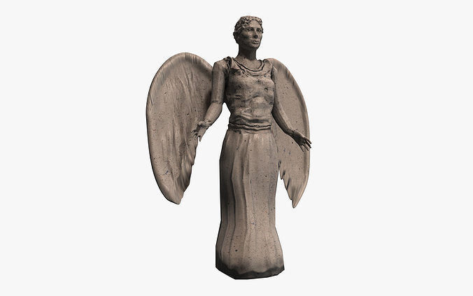 Unique 3D model Stone angel statue | CGTrader BF28
