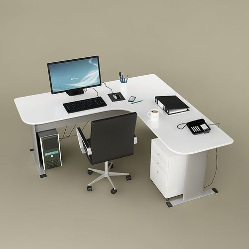 desk office 02 3d model max obj mtl fbx 1