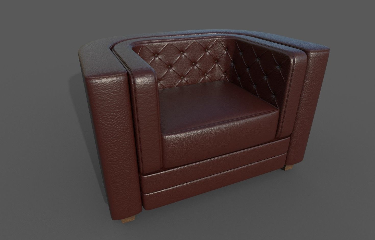 Chesterfield Single Seater Sofa With Pbr