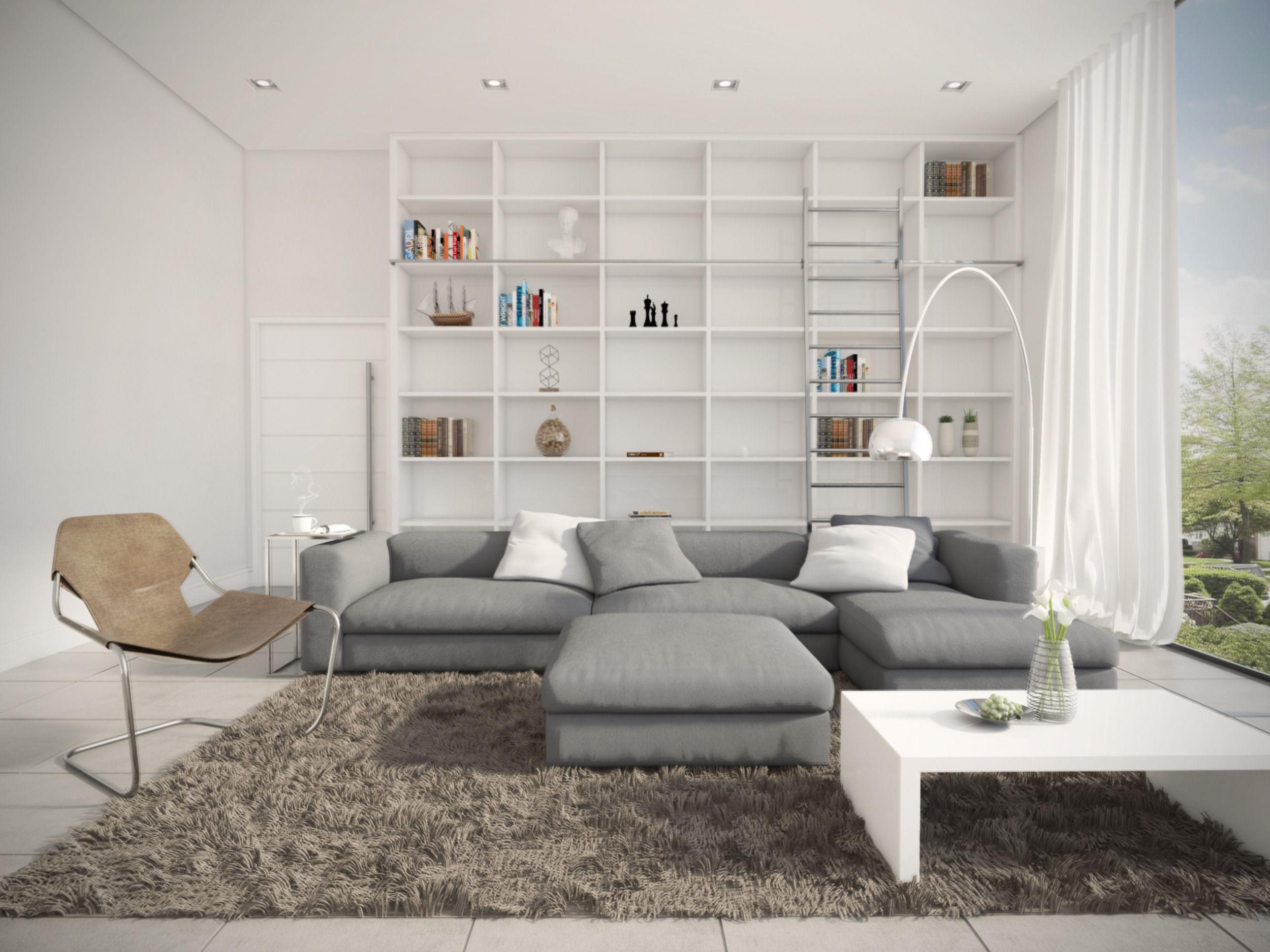 Modern Livign Room 3d Model Skp
