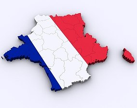 3D model Map of France