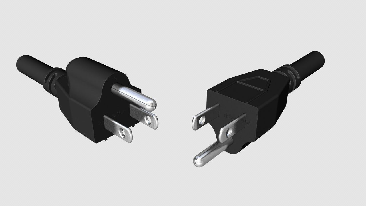 NEMA 5-15 US electrical plugs