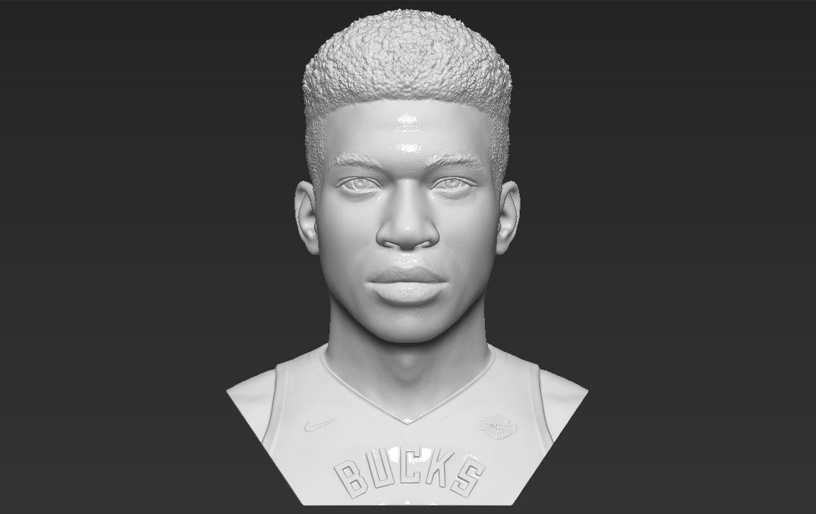Giannis Antetokounmpo bust 3D printing ready stl obj formats