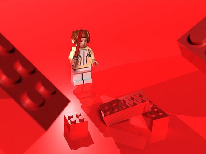 lego star wars 3d model obj fbx ma mb dae mtl 1