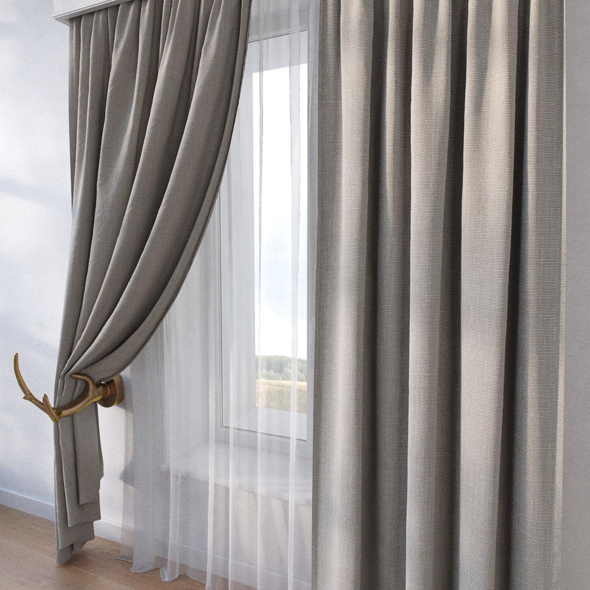 curtain sp10 3d model max obj fbx mtl
