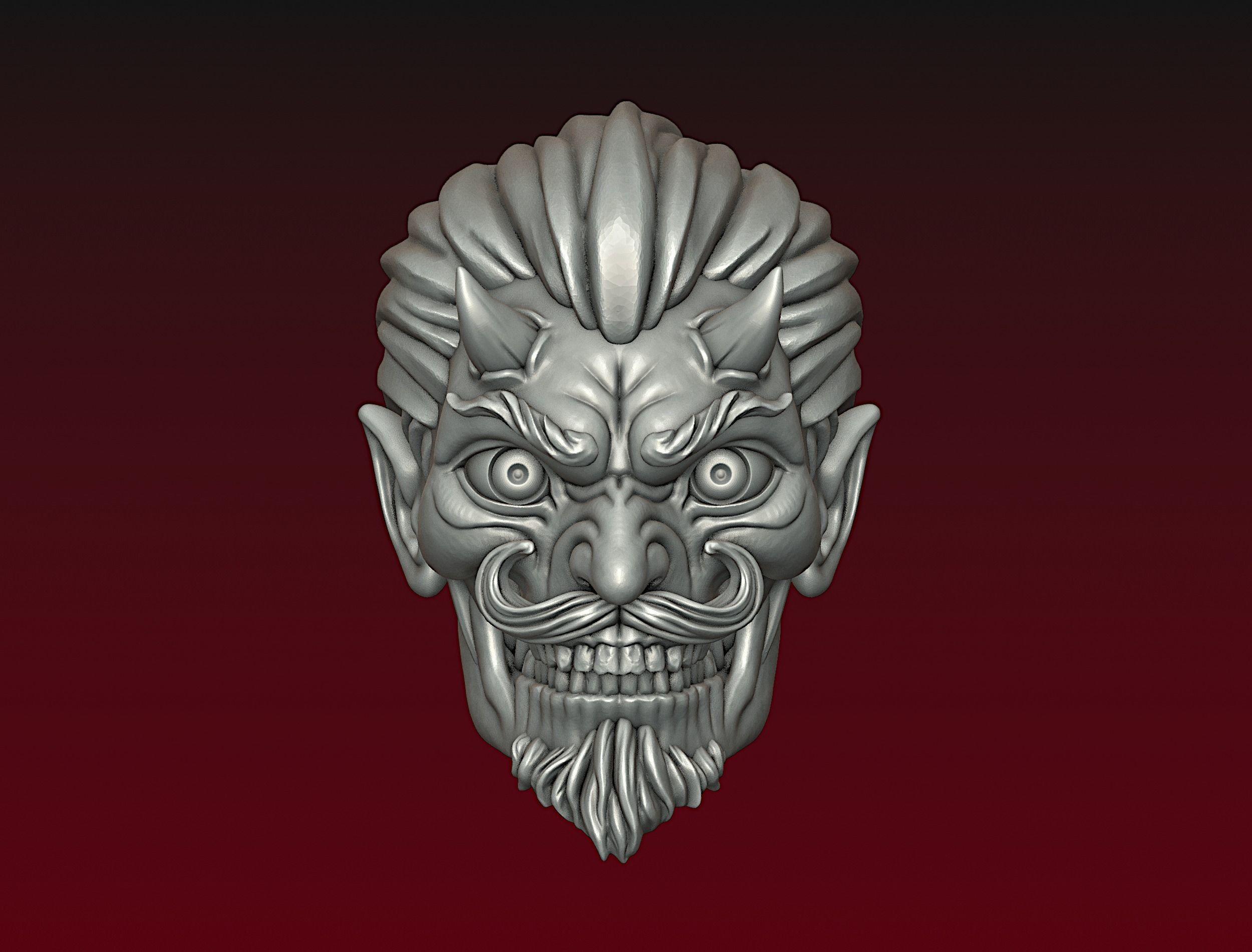 Devil head Demon head