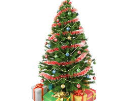 3D model Christmas Tree and Gifts