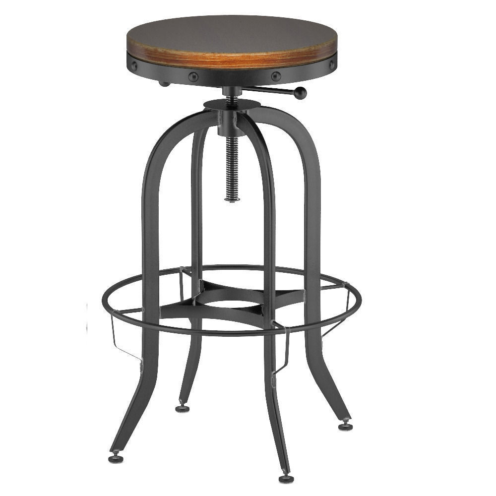 Industrial vintage bar stool black 3d model max obj fbx for Industrial vintage mobel