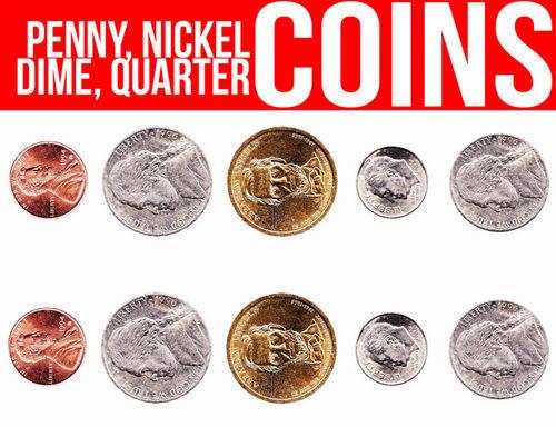 Coin Coins Us Usa Dime Nickel Penny Quarter