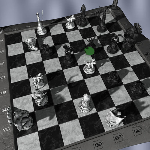 chess board chessboard gargoyles 3d model obj mtl 3ds ma mb 1