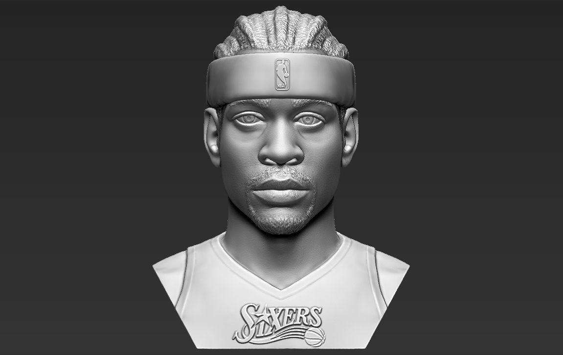 Allen Iverson bust 3D printing ready stl obj formats