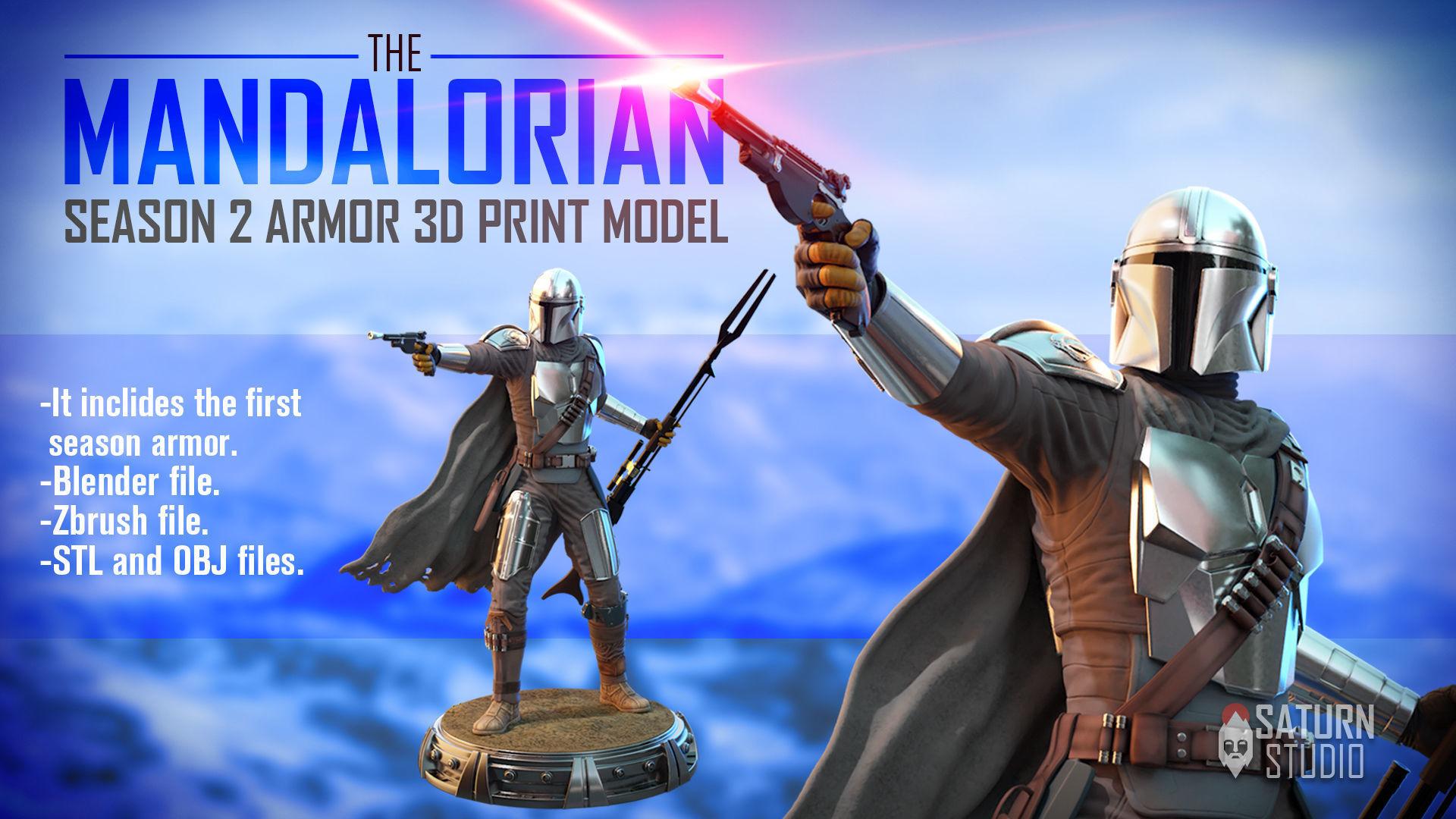The mandalorian 3d print model