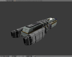 3D model Sci-fi Freighter