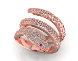 Snake Fashion Ring 3D Model