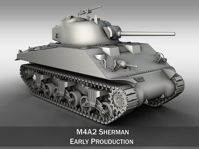 D model m a sherman medium tank cgtrader
