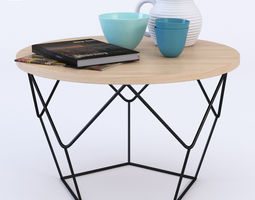 west elm origami coffee table 3d model